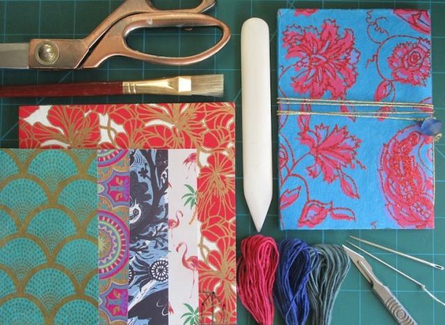 Bookbinding workshop pamphlet making