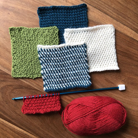 Tunisian Crochet in various colours
