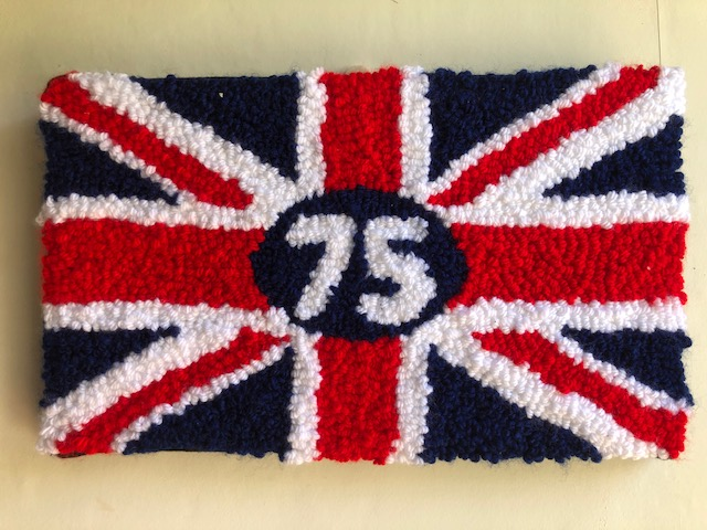 Union Jack VE Day 75 Years Needle Punched