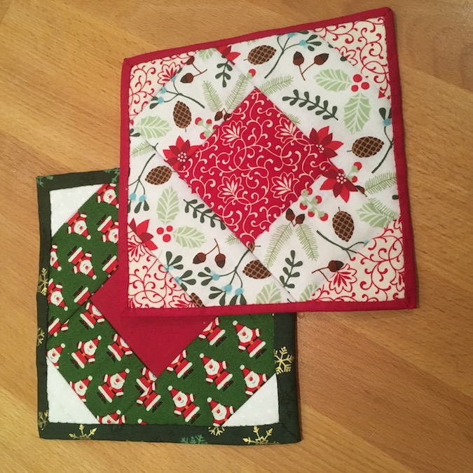 Hand quilted coasters