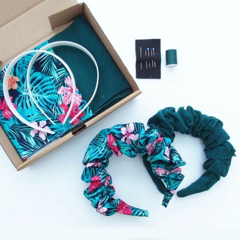 Tropical Scrunchie Headband