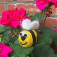 needle felted bee
